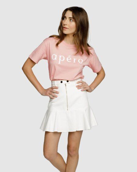 Apero Printed Tee- Dusty Pink