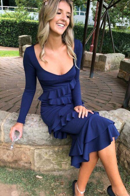 Talisman Midi Dress Blue