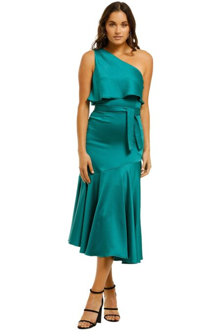 Oasis Asymmetry Dress Jade