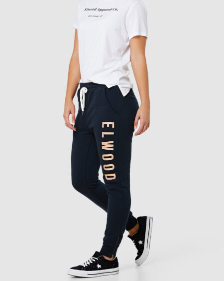 Huff N Puff Track Pant Navy Gold