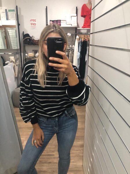Myra Stripe Knit black