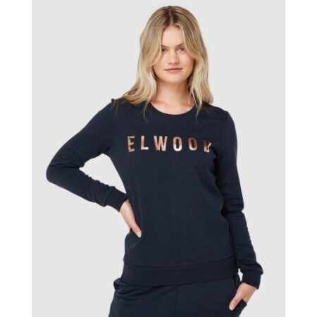 Huff N Puff Track Jumper Navy Gold