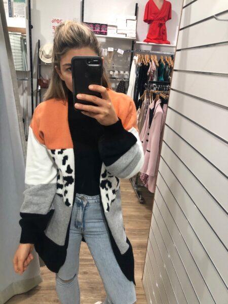 Dana Cardigan orange
