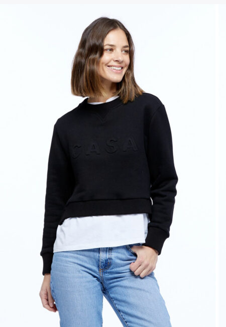 Casa crop sweater black