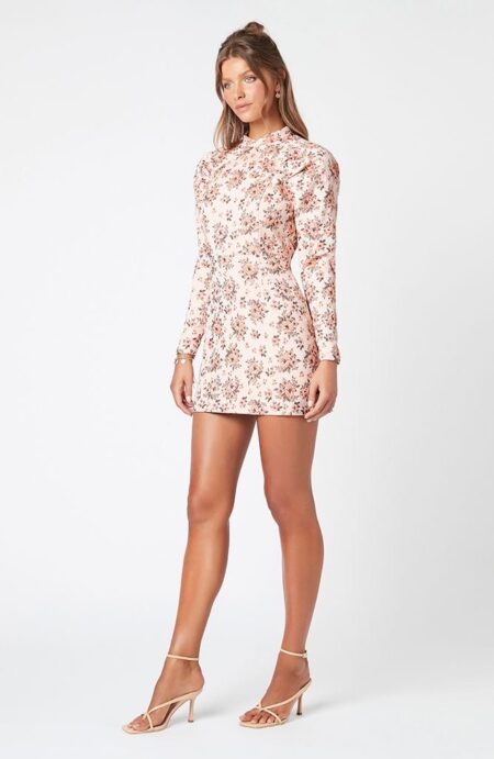 Mackey floral mini dress
