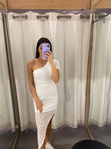 Evai  Lace Dress White