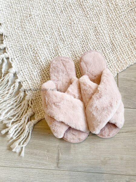 Skylar Fluffy Slippers Pink