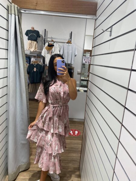 Katey One Shoulder Layer Dress