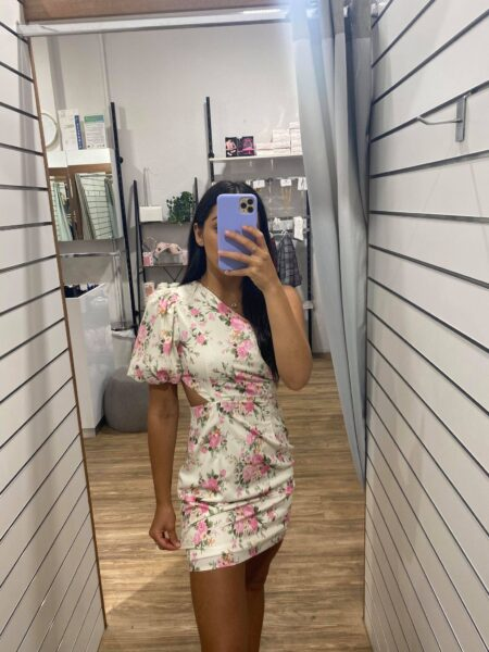 Heidi Floral One shoulder Dress