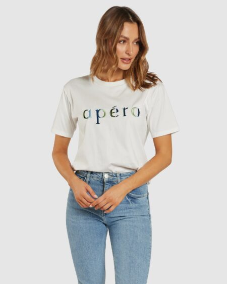 Journey Embroidered Tee - White / Multi