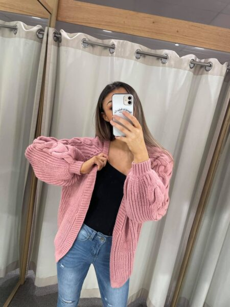 Cable Cardigan Rose