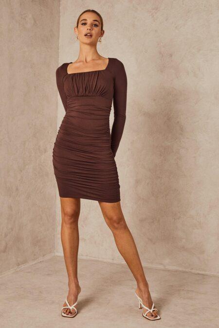 Roma Dress Chocolate