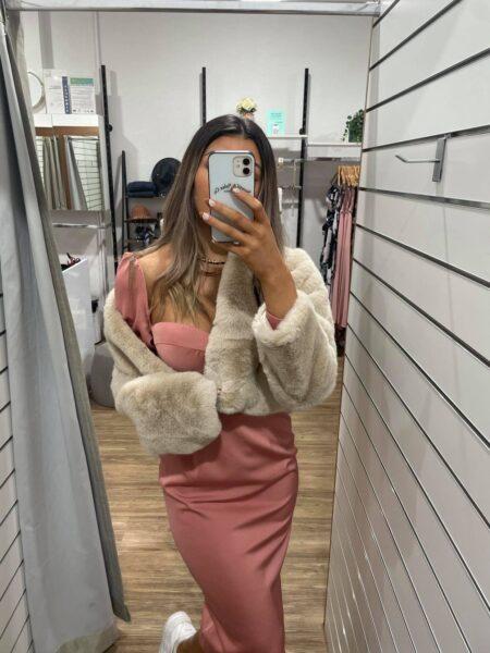 Eva Faux Fur Champagne