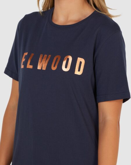 Elwood Huff N Puff Tee Navy