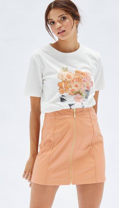 Zahlee PU Mini Skirt