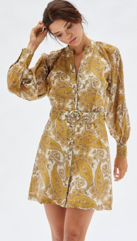 Sistan Button Mini Dress PRE ORDER