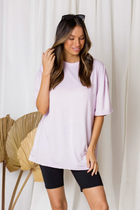 Oliver Oversized Cotton Tee Pink